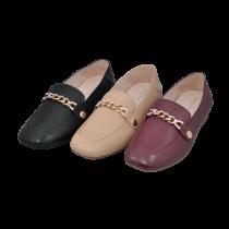 葡萄牙品牌 Futware 可換飾扣踩腳兩穿真皮樂福鞋