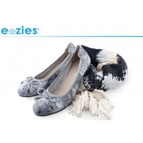 Ezies 印花羊皮舒適坡跟包鞋